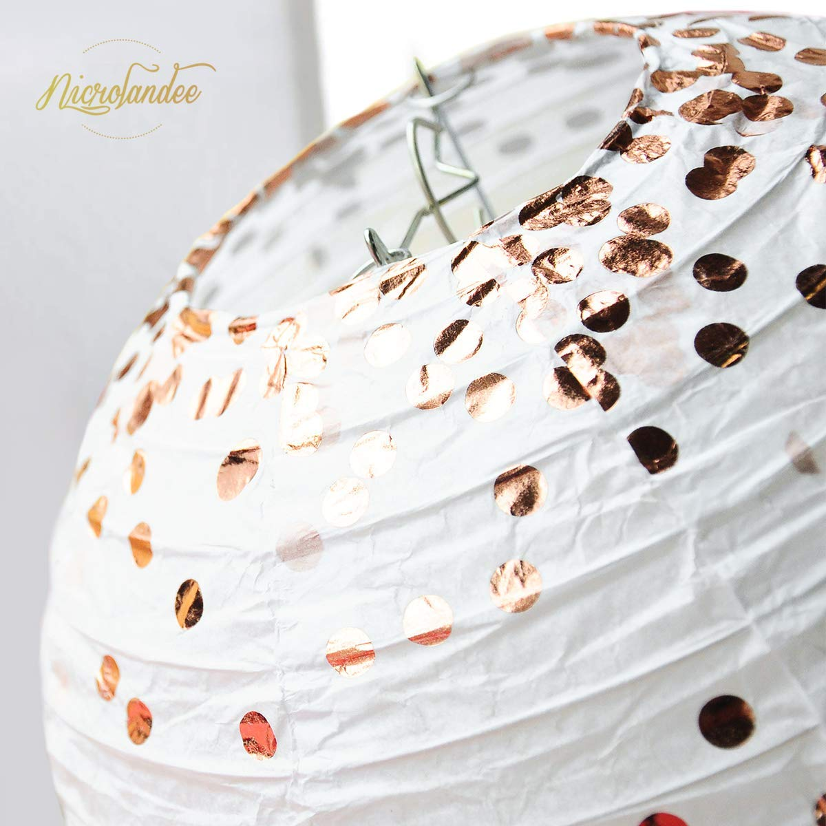 NICROLANDEE Lanterne en Papier Rose D/écorations Blanc Lanterne Guirlande pour Fille Anniversaire Mariage Douche Saint-Valentin F/ête Int/érieur Ext/érieur D/écoration Maison 18 Pi/èces