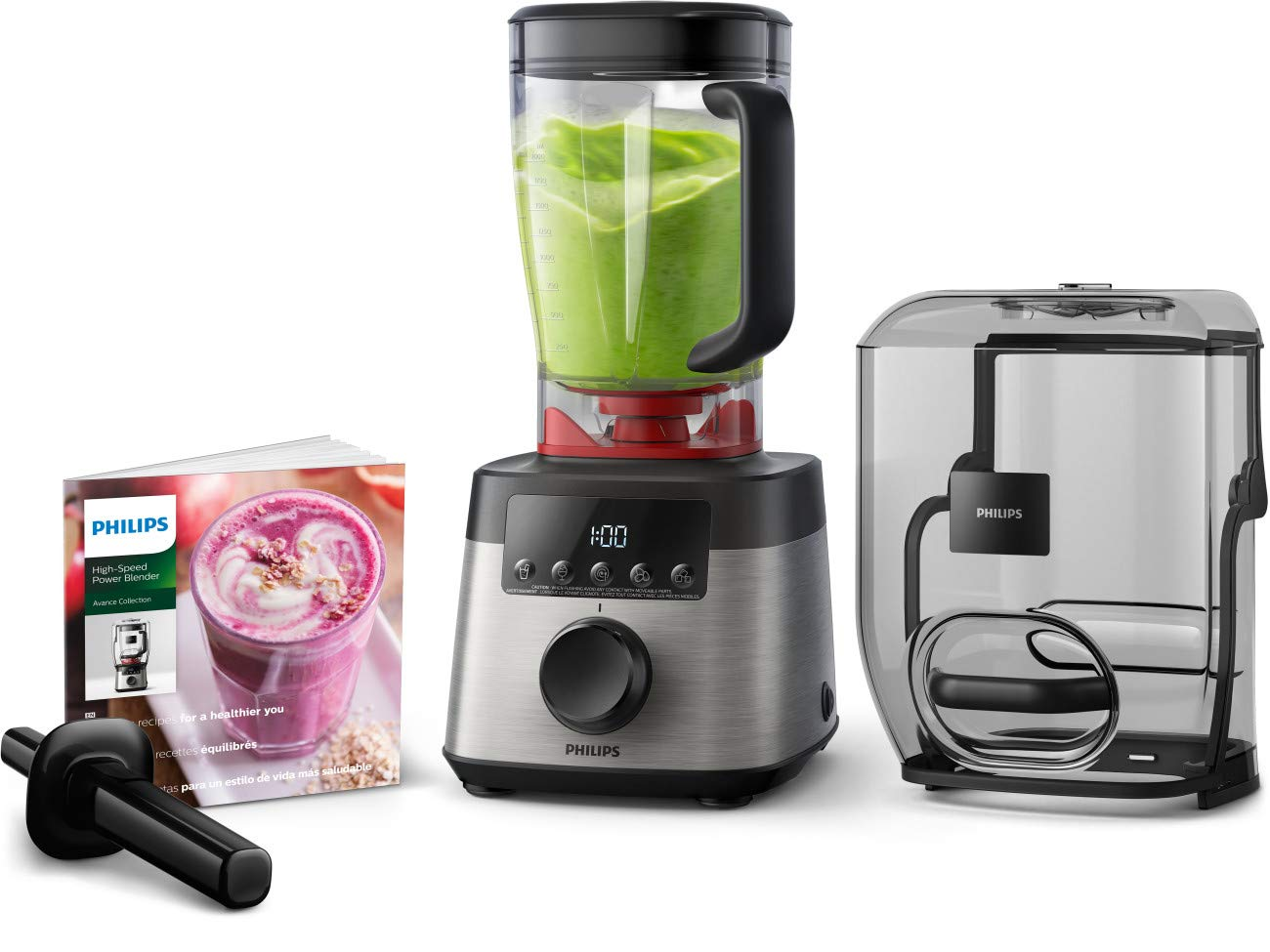 Philips HR3868 90 High Speed Power Blender with ProBlend Extreme Technology Black and Silver