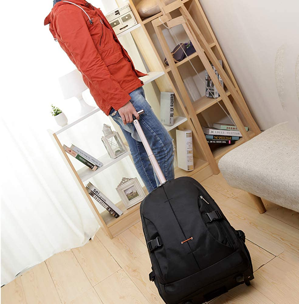 FGKING Wheeled Rolling Laptop Trolley Wheeled Duffel Carry-On Luggage 24 Inch Rolling Suitcase for Men and Women Laptop Backpack Luggage Trolley Case with Bar