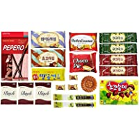 Korean Popular Snack, Cookies, Chips and Candies Variety Box (20 Count)…