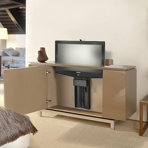 TV Lift für den Möbeleinbau bis 75cm Hubhöhe 100 kg Tragkraft TS750 ...