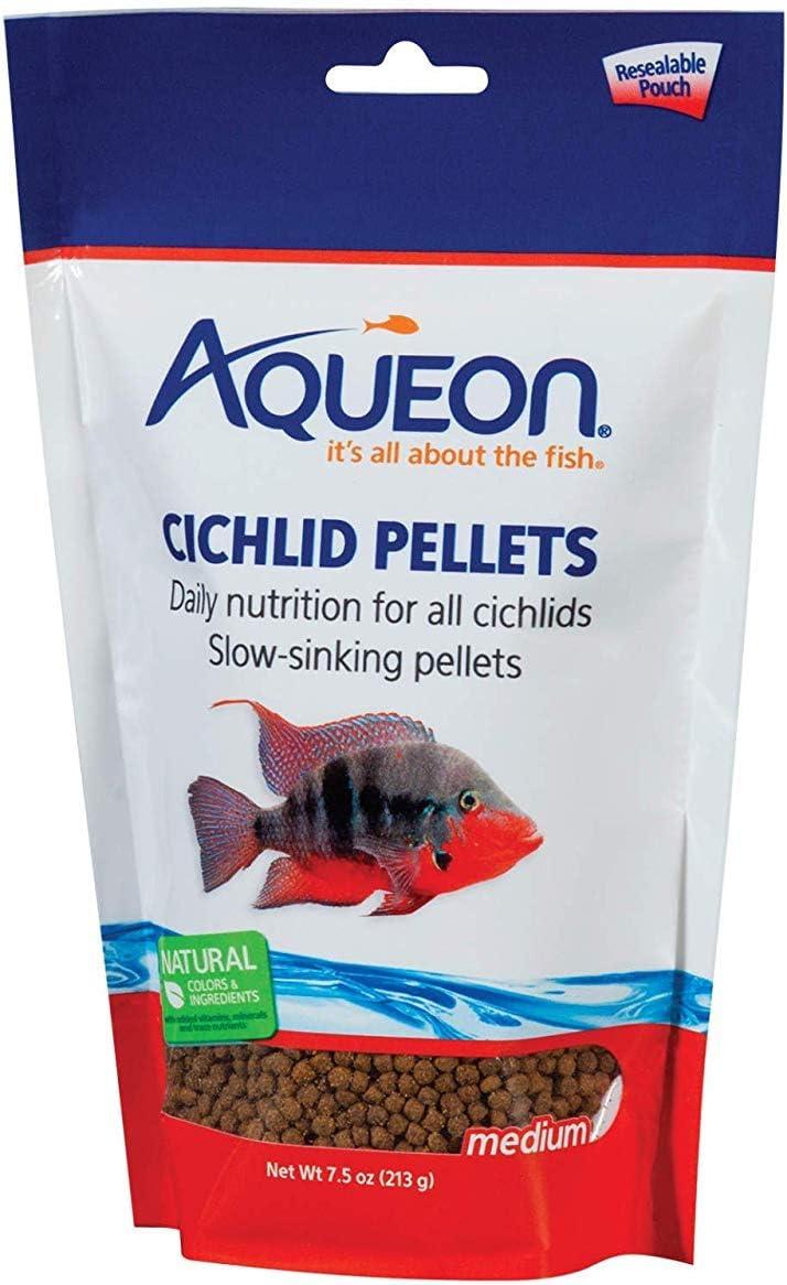 Aqueon Cichlid Medium Pellets [Set of 2] Size: 7.5 Ounce