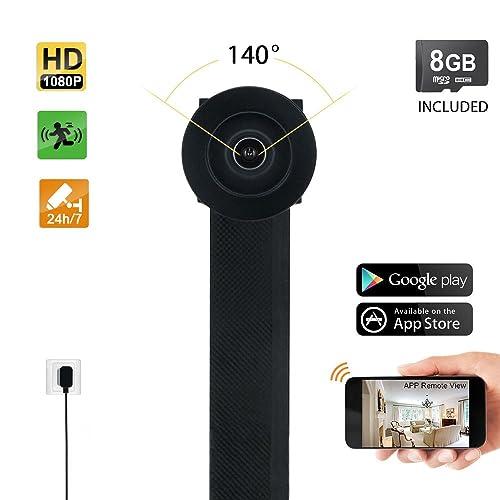 TEKMAGIC 8GB 1080P HD Mini Camara Seguridad Grabadora Espia WiFi Inalambricas por Internet Acceso Remoto de