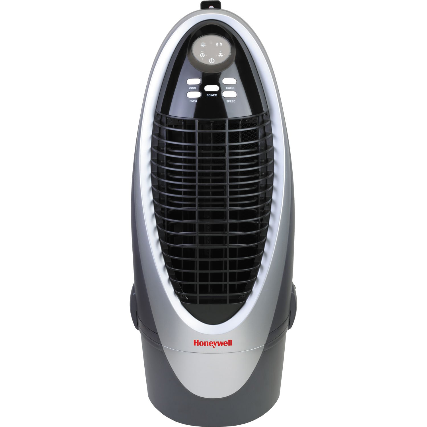 Honeywell CS10XE 300 CFM Indoor Evaporative Air Cooler (Swamp Cooler) with Remote Control in Silver/Gray