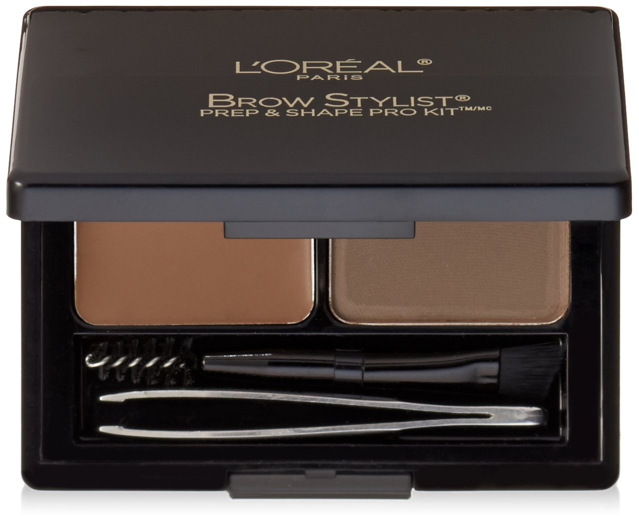 L'Oreal Paris Cosmetics Stylist Prep and Shape Brow Liner Kit, Medium To Dark, 0.12 Ounce L' Oreal Paris