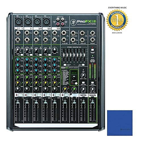 - Mackie PROFX8V2 8-Channel Compact Mixer with USB and Effects