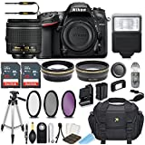Nikon D7200 24.2 MP DSLR Camera (Black) with AF-P DX NIKKOR 18-55mm f/3.5-5.6G VR Lens Bundle includes 64GB Memory + Filters + Deluxe Bag + Professional Accessories (25 Items)