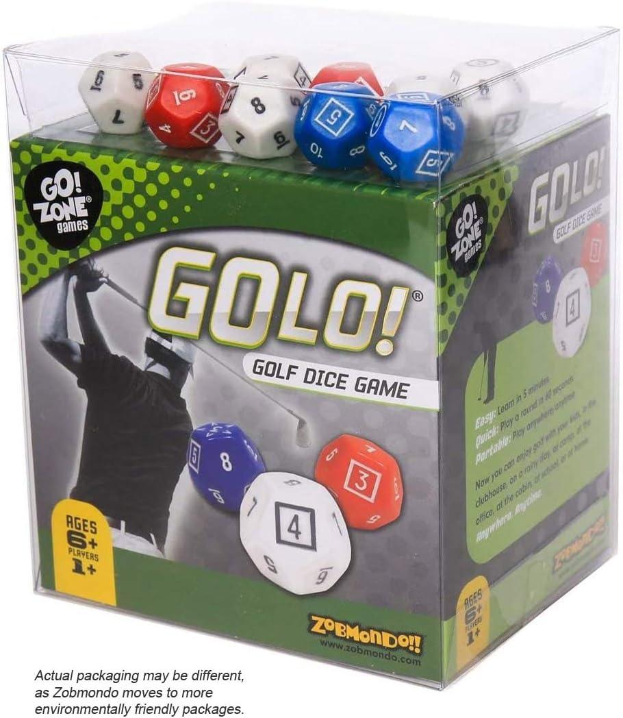 Zobmondo!! Golo, Golf, Juego de Dados - Premio Ganador, Super Divertido, Juego de Dados de Golf - un Juego de Dados Viajes, casa, Fiestas Talla única Multicolor: Amazon.es: Juguetes y juegos