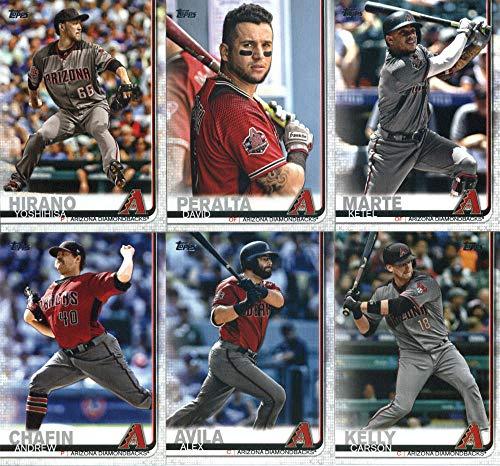 2019 Topps Series 2 Baseball Arizona Diamondbacks Team Set of 11 Cards: Jarrod Dyson(#351), David Peralta(#352), Ketel Marte(#365), Yoshihisa Hirano(#421), Alex Avila(#458), Carson Kelly(#474), Andrew Chafin(#484), Chase Field(#521), Ildemaro Vargas(#559), Eduardo Escobar(#570), Zack Greinke(#661)