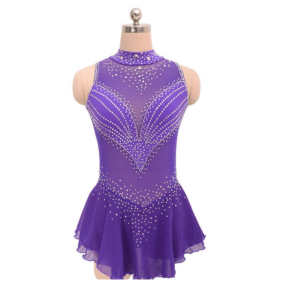 【2019春夏新色】 フィギュアスケート女の子のためのドレス女性スケート競争のパフォーマンスのコスチュームダンスコスチュームドレスプロフェッショナルストレッチ通気性 B07MD4DFQK Purple Small|Purple Small|Purple Purple Small Small, ユザワシ:54b77cf1 --- arianechie.dominiotemporario.com