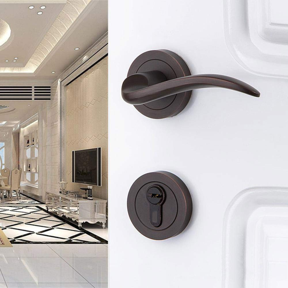 WY-Tong Door Handles Door Handle Solid Wood Double Door Bedroom Room Mute Door Handle