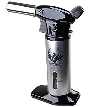 Phoenix por flamepro butano linterna con indicador de combustible - cocina cocinar Chef Torch - Soplete