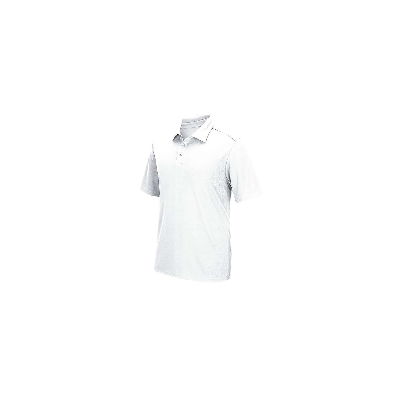 Forever Men's Long Full Sleeve Polo Collar T-shirt Hi Viz Reflective Workwear Top