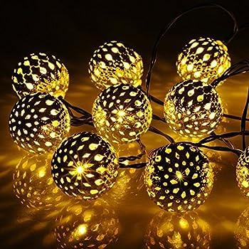 Globe String Lights, CMYK 20 Ft 40 Balls Waterproof LED Fairy Lights,  Outdoor Starry