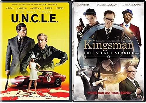 Espionage and Spies 2-DVD Set - Kingsman: The Secret Service & The Man From U.N.C.L.E Double Feature Movie (Bridge Personal File)