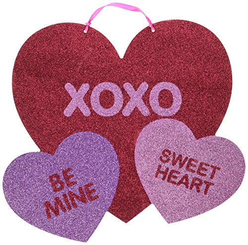 Amscan Blushing Valentine's Day Multicolored Heart Sign with