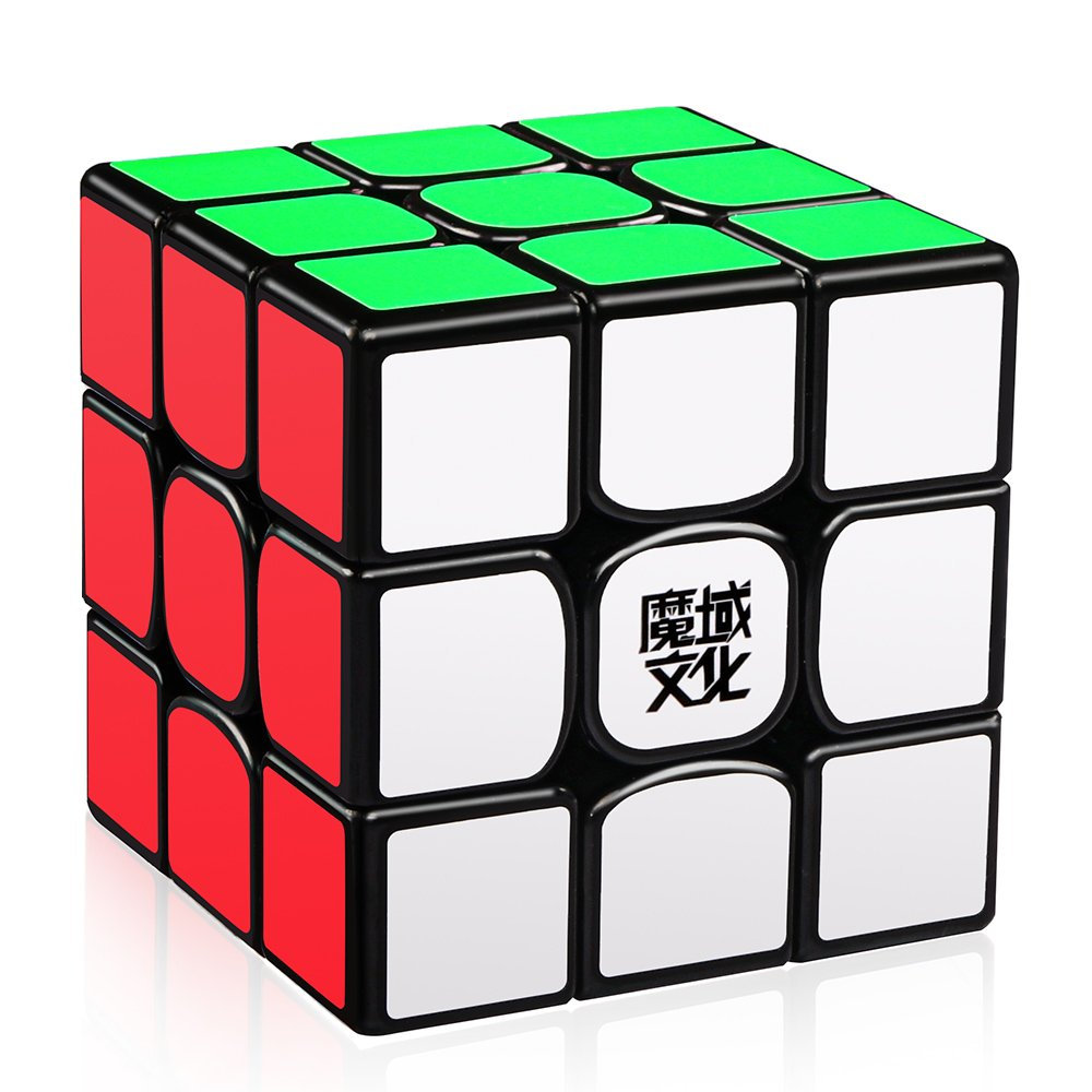 D-FantiX Moyu Weilong GTS V2 3x3 Speed Cube, Moyu Weilong GTS2 3x3x3 Magic Cube Puzzle Black AM-TG417