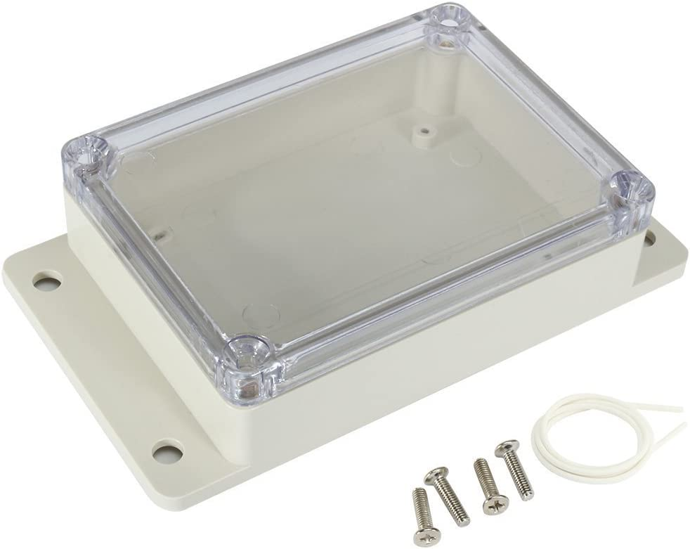 115mmx85mmx35mm ABS Junction Box Universal Project Enclosure w PC Transparent Cover sourcingmap 4.5x3.4x1.4