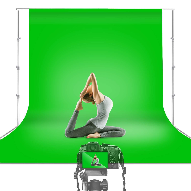 Julius Studio 10 x 12 ft. Green Chromakey Photo Video Studio Fabric Backdrop, Background Screen, Movie, Photography Studio, TEMJSAG474