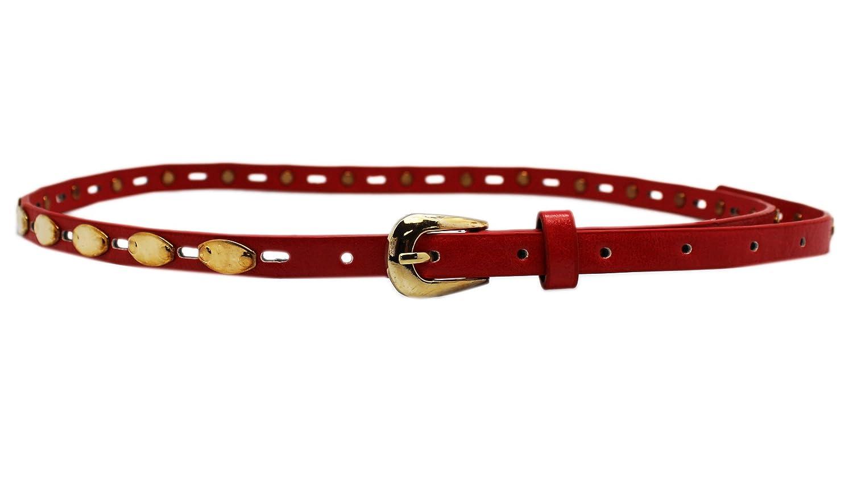 Brass Plated Red Fashion Belt