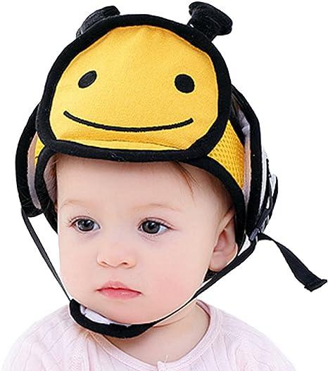 EOZY Gorro de Seguridad Bebé Casco Ajustable Cabeza Protección ...