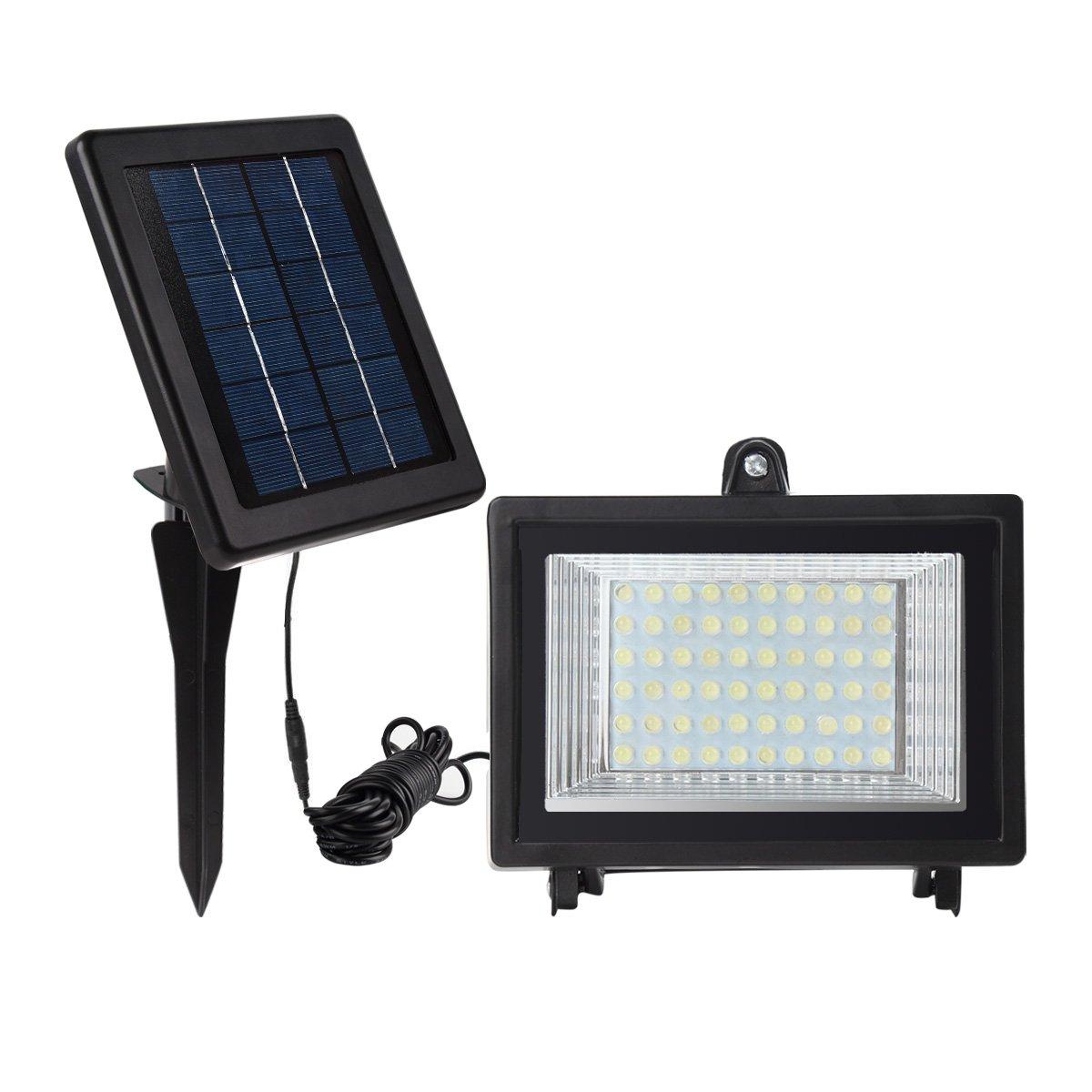 Meikee 60 leds luz solar exterior 300lm jard n de luces for Iluminacion solar de jardin