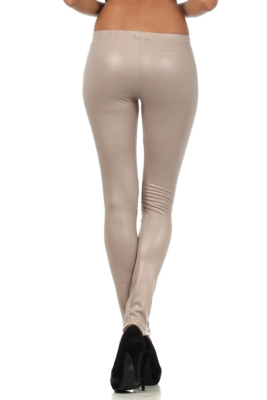 a866b4b9a8617b Sakkas Footless Ultra Slim Fit Matte Liquid Wet Look Leggings larger image