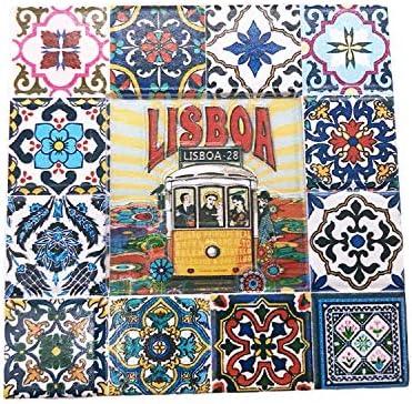 Aimant de r/éfrig/érateur 3D Lisbonne Portugal Souvenir de Voyage Cadeau de Maison Cuisine D/écoration Lisboa R/éfrig/érateur Aimant Collection Aimant
