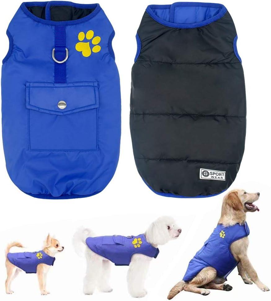 Didog Chaleco Impermeable para Perro, Chaleco, Chaleco, Ropa Exterior Reversible, Abrigo para frío, para Perros pequeños, medianos y Grandes