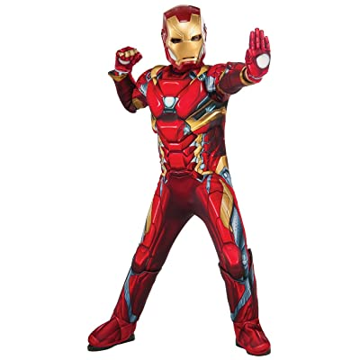 Rubie's Boys Deluxe Iron Man Costume, Red, Medium (Medium): Clothing