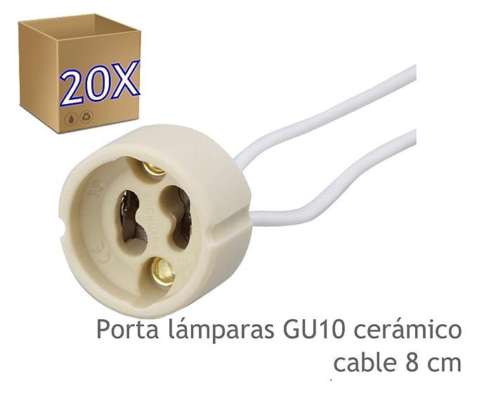 GU10 es led lamparas Porta 20 cerámico JandeiAmazon OPkXZiu