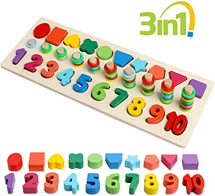 Number Matching Toy Math Teaching Aids Kids Early Educational Toy Games W