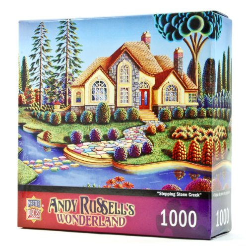 MasterPieces Stepping Stone Creek Jigsaw Puzzle, Art by Andy Russell, 1000-Piece