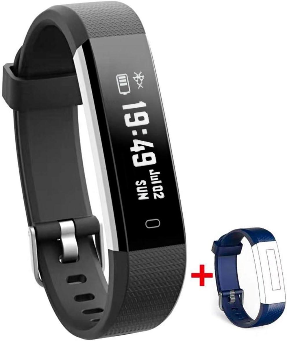 Nakosite RAY2433 Reloj inteligente Mujer Hombre SmartWatch pulsera Actividad relojes Inteligentes deportivo podometro,Contador de Pasos,Calorías,Sueño,Distancia.Android 5.0 iOS 8.0 y posteriores