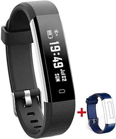 Nakosite RAY2433 Podometre Marche Montre connectée Femmes Homme Pas Cher Sport Bracelet connecté pour Enfants Garcon Fille Calories Sommeil Distance