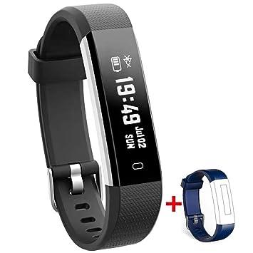 Nakosite RAY2433 Reloj inteligente Mujer Hombre SmartWatch pulsera Actividad relojes Inteligentes deportivo podometro,Contador de ...
