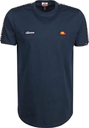 17b199a1064 ellesse Men's Fede Taped T-Shirt, Blue | Amazon.com