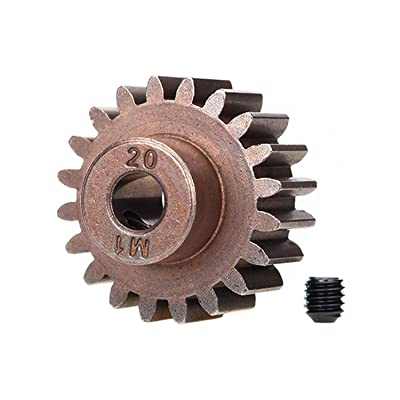 Traxxas 6494X 20-T Pinion Gear, 1.0 Metric Pitch, Fits 5Mm Shaft (Compatible with Steel Spur Gears) Vehicle: Toys & Games