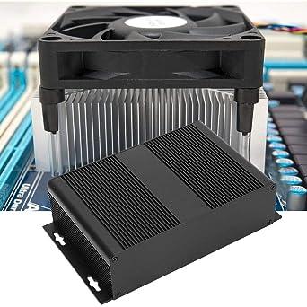 BOQUITE Caja de aluminio Caja de caja, Instrumento de placa de circuito impreso DIY Caja de refrigeración de aluminio Caja de caja de proyecto electrónico DIY 2.1 * 8 * 4.7in: Amazon.es: