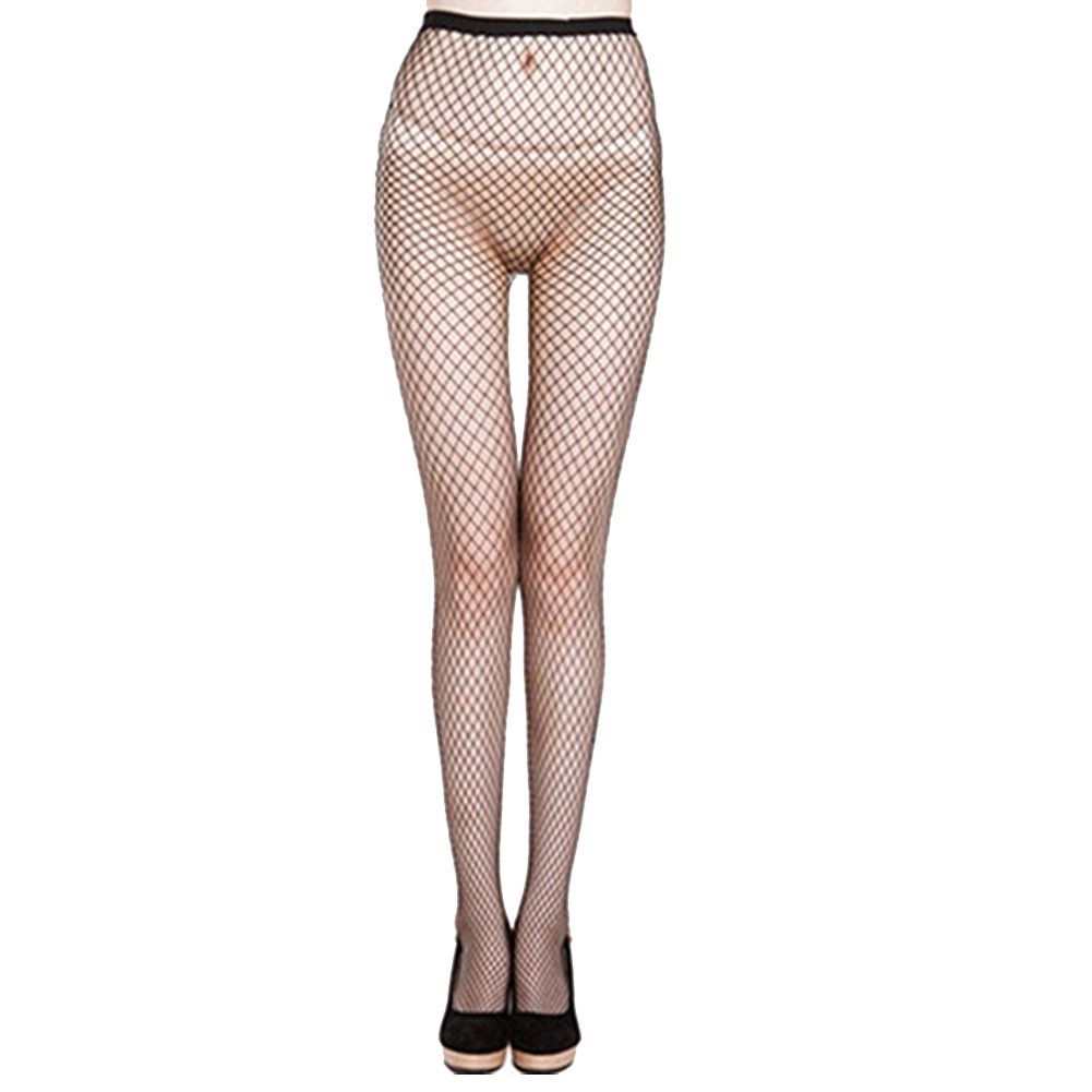 9760a625395 pu ran Women Fishnet Hollow Pantyhose Elastic Punk Stockings Stretchy Tights  - Black b  Amazon.co.uk  Clothing
