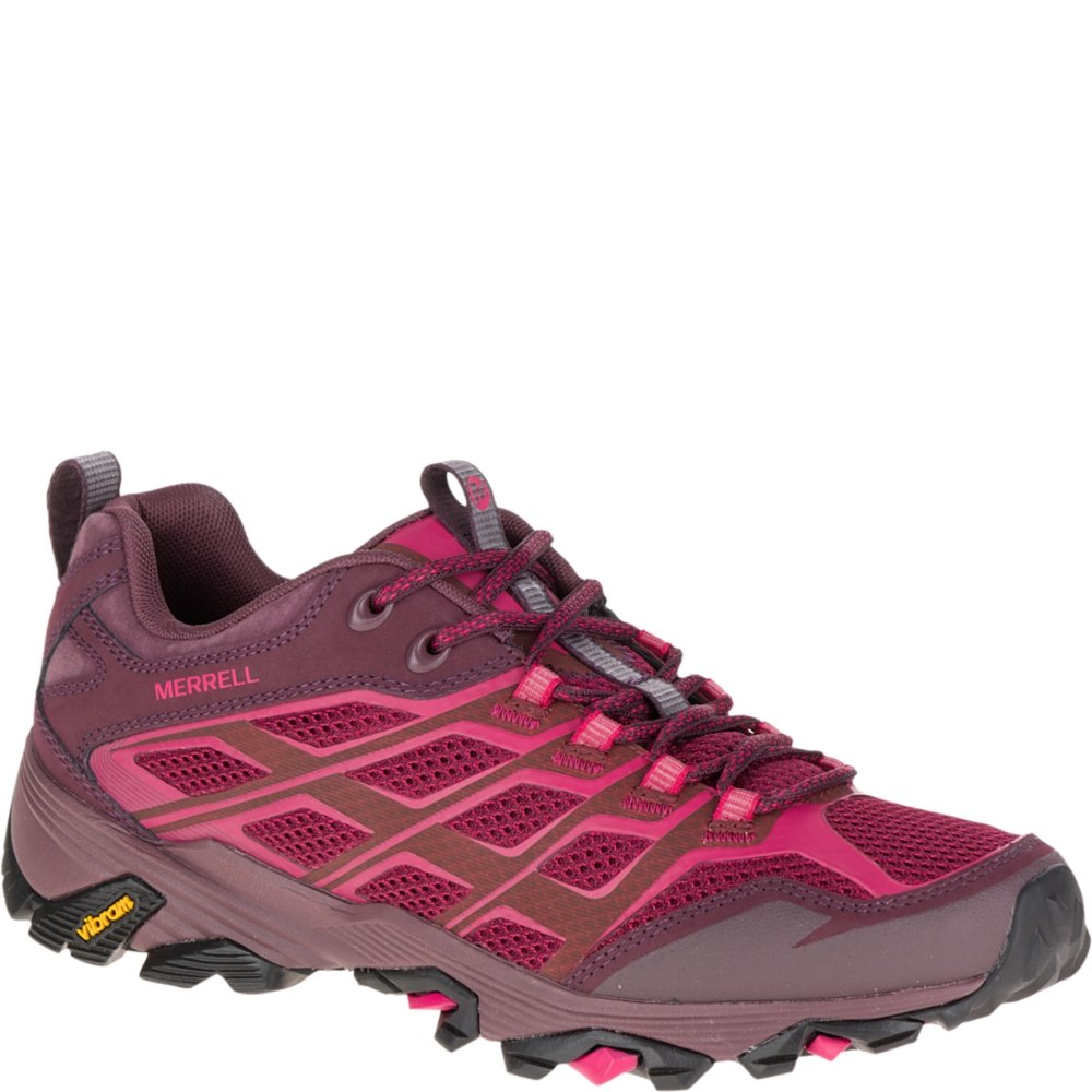 Merrell Women Beet Red Moab Fst Hiking Shoe, 11 B(M) US