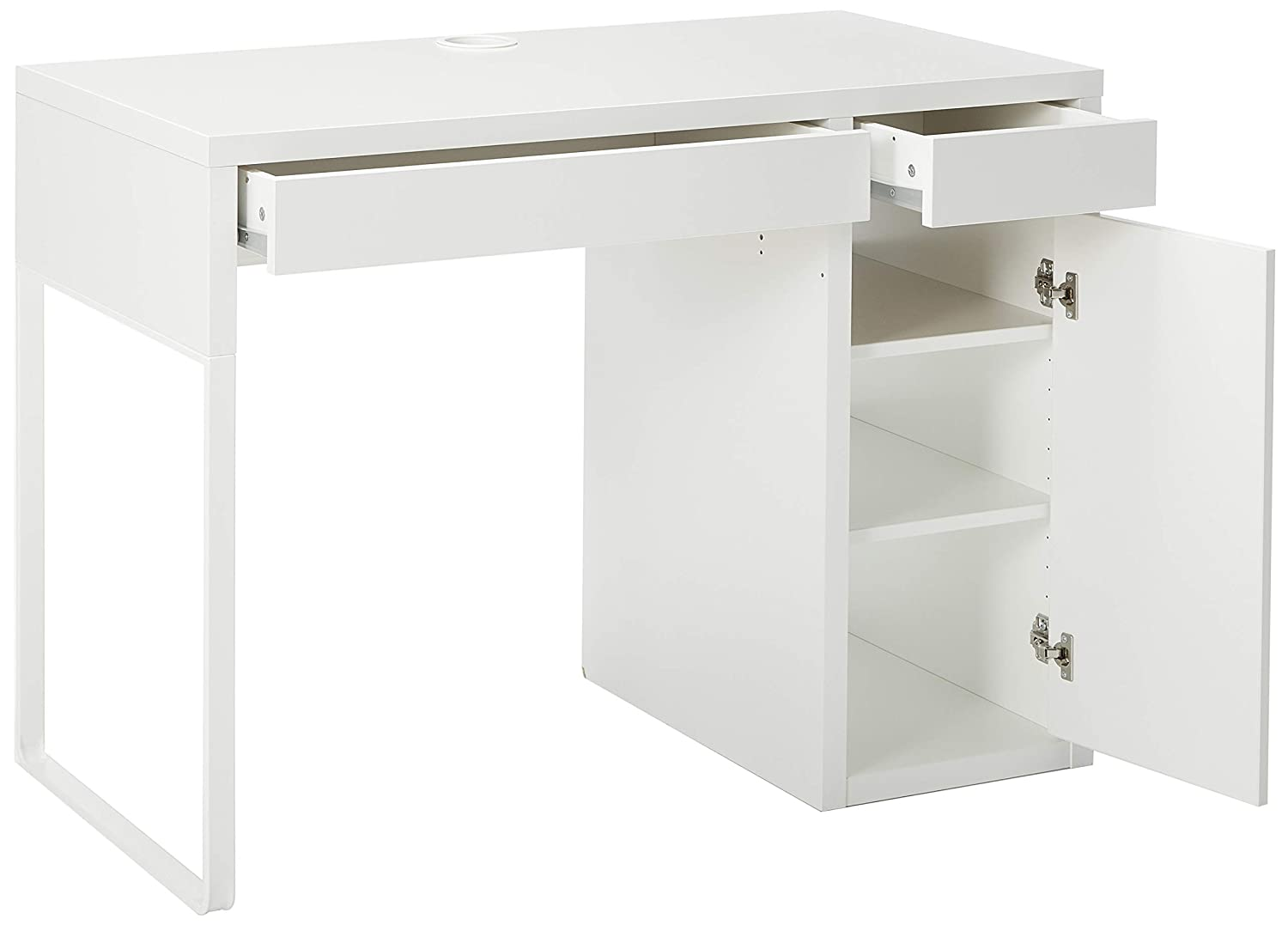 IKEA MICKE - Escritorio, Color Blanco: Amazon.es: Hogar