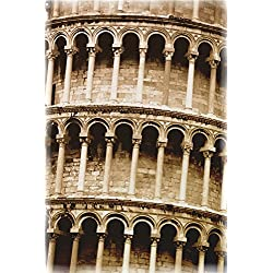 Closeup Of The Leaning Tower Of Pisa Tuscany Italy Poster Print (22 x 34)