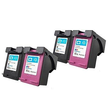 yatunink 4 unidades (2BK + 2 C) alto rendimiento cartucho de tinta ...