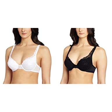 86c0b4b5df VASSARETTE Women s Lace Padded Push Up Bra 75320 at Amazon Women s ...