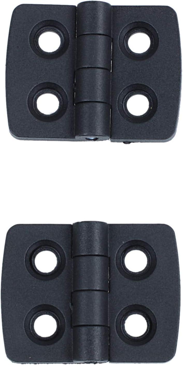 SODIAL(R) 10pcs reforzado negro plastico puerta bisagras de 40mm x 30mm