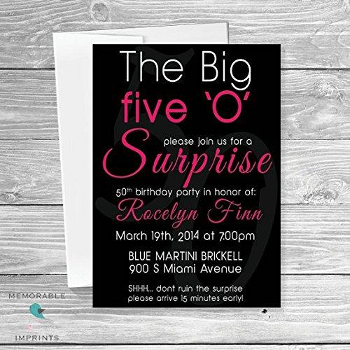Amazon Com 50th Birthday Party Invitation The Big Five O Birthday