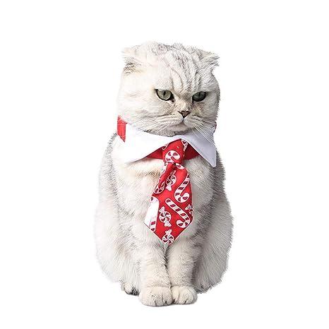 Vektenxi Collar de Corbata para Perro o Gato, Navidad, Color Rojo ...