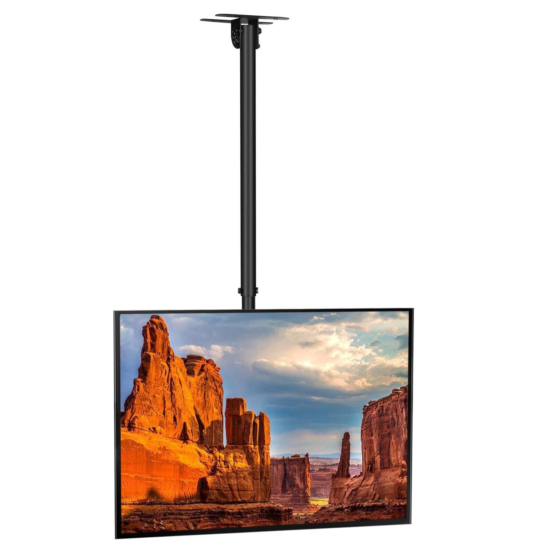 SIMBR Soporte TV de Techo con Altura Ajustable Soporte para Televisión con Pantalla LED/LCD/Plasma de 22-55 Carga Máxima 50kg VESA Máxima 400×400 ...