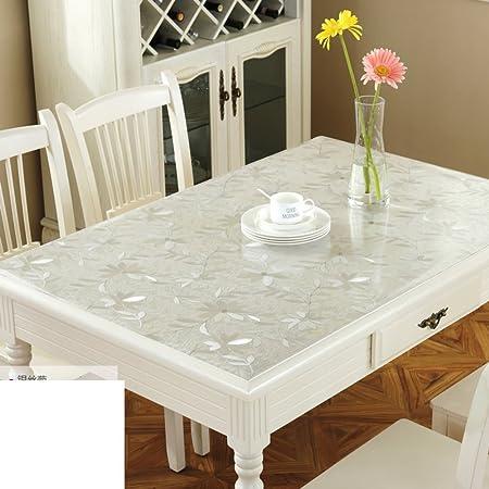 Mantel mesa de placa de cristal transparente Mat PVC suave cristal ...